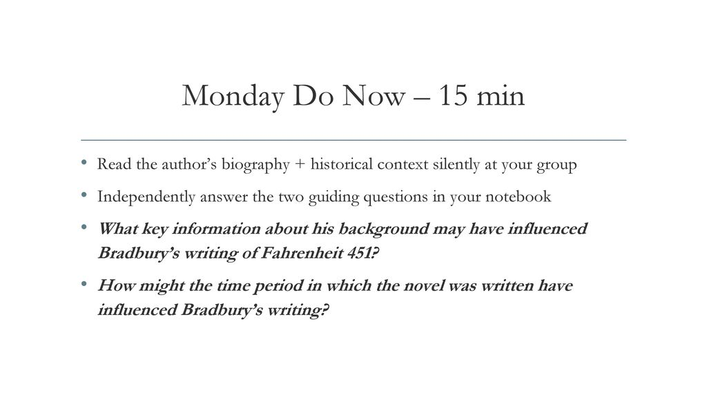 answers to fahrenheit 451 questions