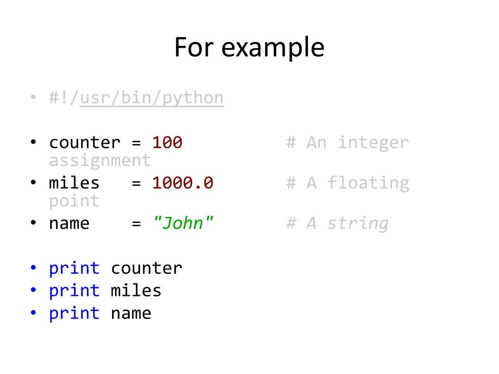 Python Variable Types  - ppt download