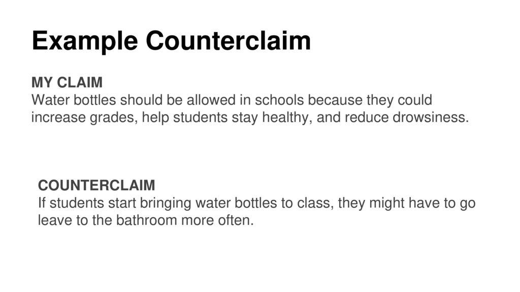 how to write a counterclaim