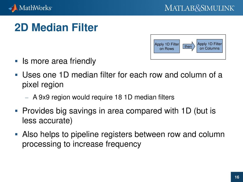 Matlab Filter 2d
