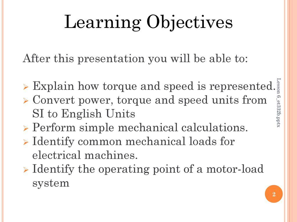 Lesson 6: Mechanics for Motors and Generators - ppt download