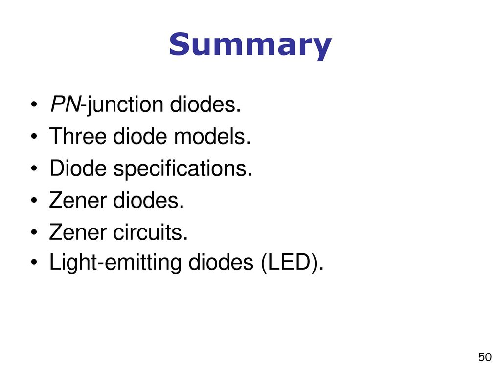 Diodes Pictures Are Redrawn With Some Modifications From Light Emitting Diode Circuit Three Models Specifications