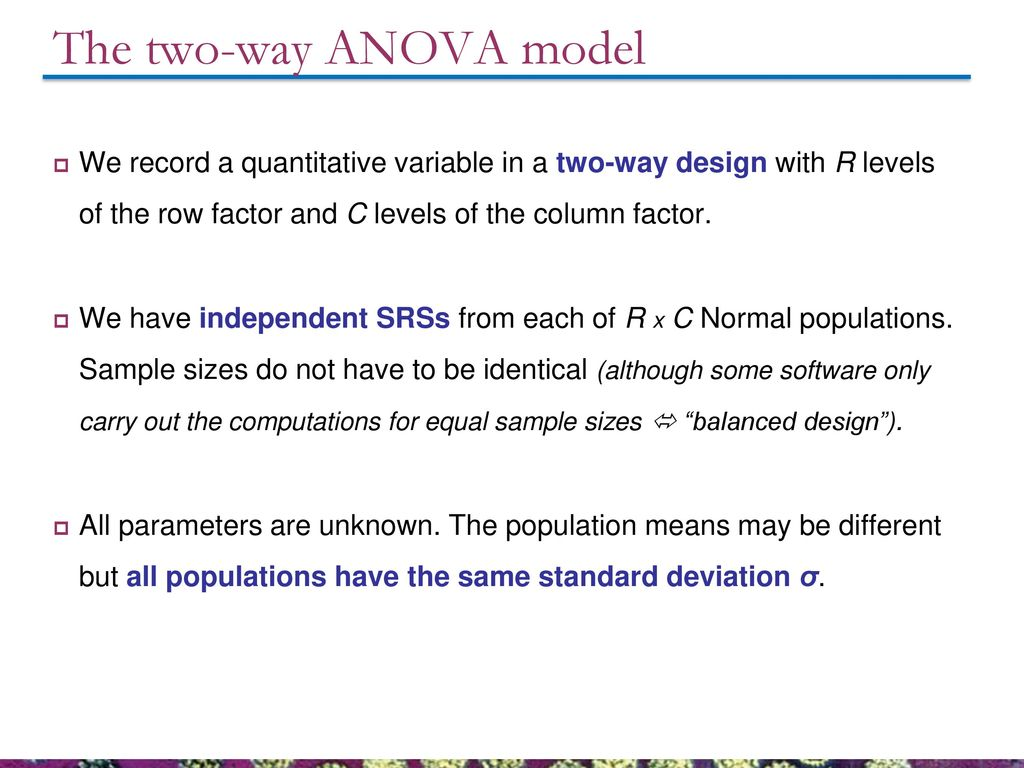 26  Follow-up tests and two-way ANOVA - ppt download