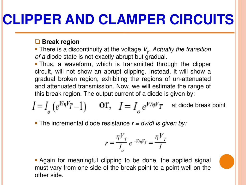 Chapter 3 Diode Circuits Ppt Download Circuit Are Actually The Signals That Go To Each Of Other Clipper And Clamper