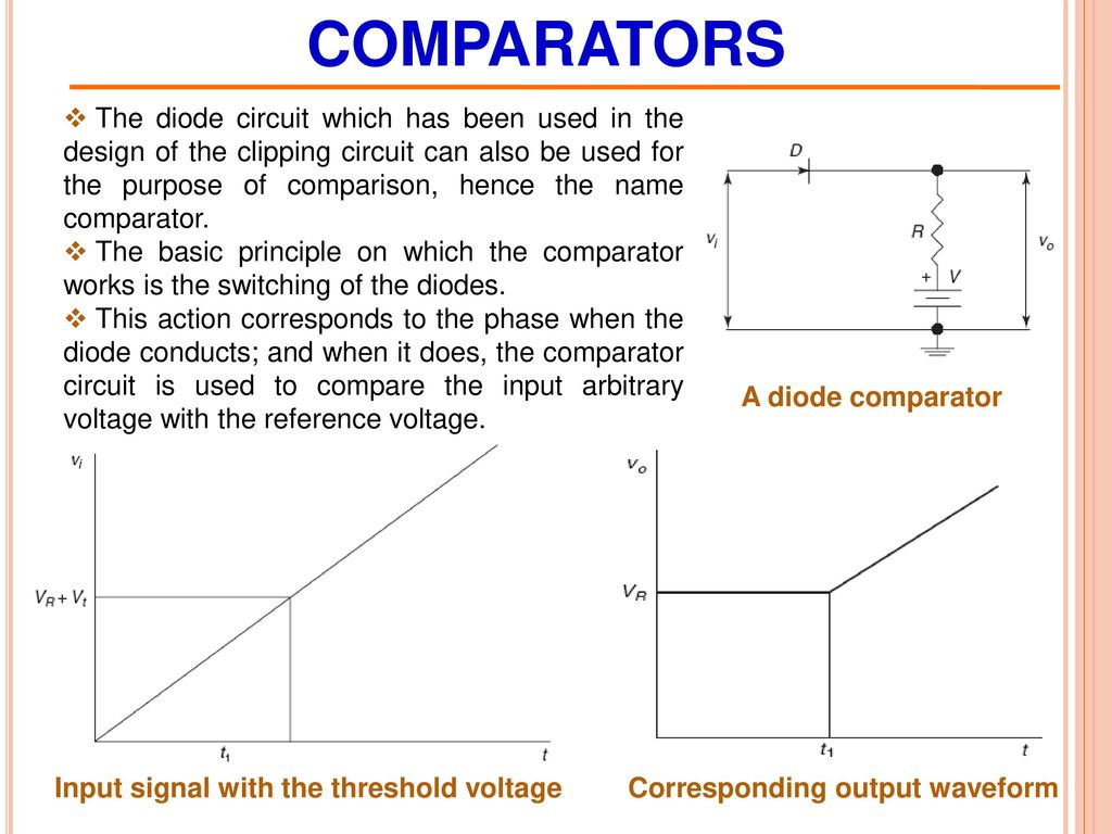 Chapter 3 Diode Circuits Ppt Download Simple Comparator Circuit Comparators 20 Additional