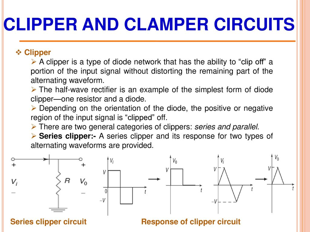 Chapter 3 Diode Circuits Ppt Download Halfwave Rectifier Topology The Circuit Is A Clipper And Clamper