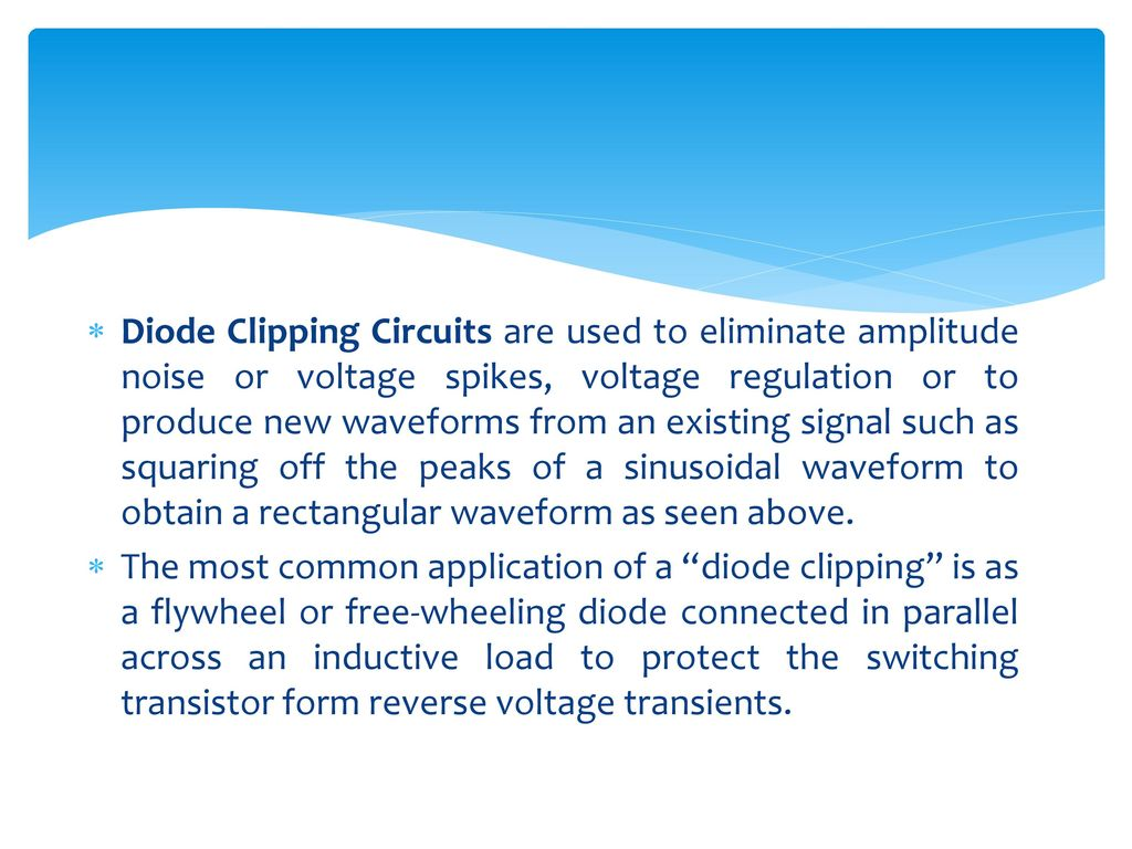Diode Clipping Circuits Ppt Download How To Connect A Protection In Circuit 15