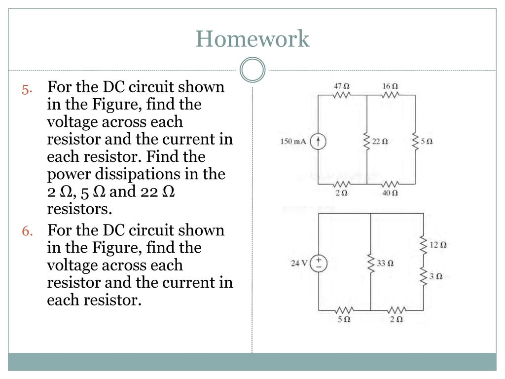 Electrical Circuits Ppt Download The Complete Circuit Will Be Powered By An 212v 24va Transformer 56 Homework