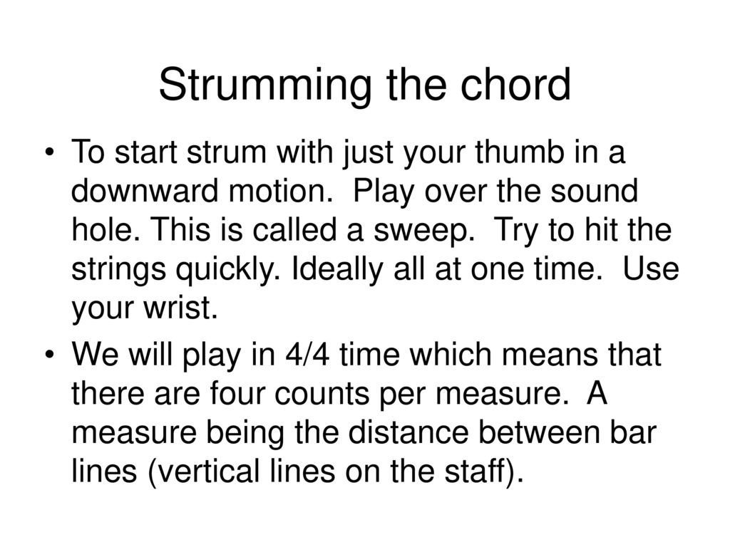 Guitar I And Ii Spring Ppt Download The Chord Symble A7 Above A Bar It Means We Have To Play Strumming