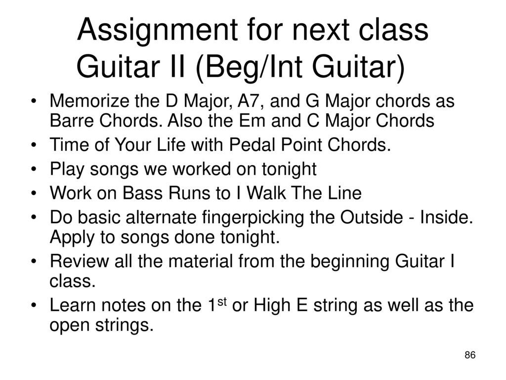 Guitar I And Guitar Ii Spring Ppt Download