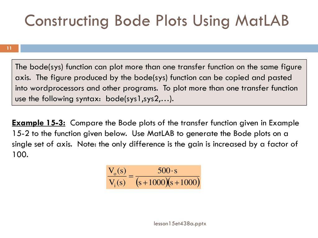 Bode Plot Generator Matlab