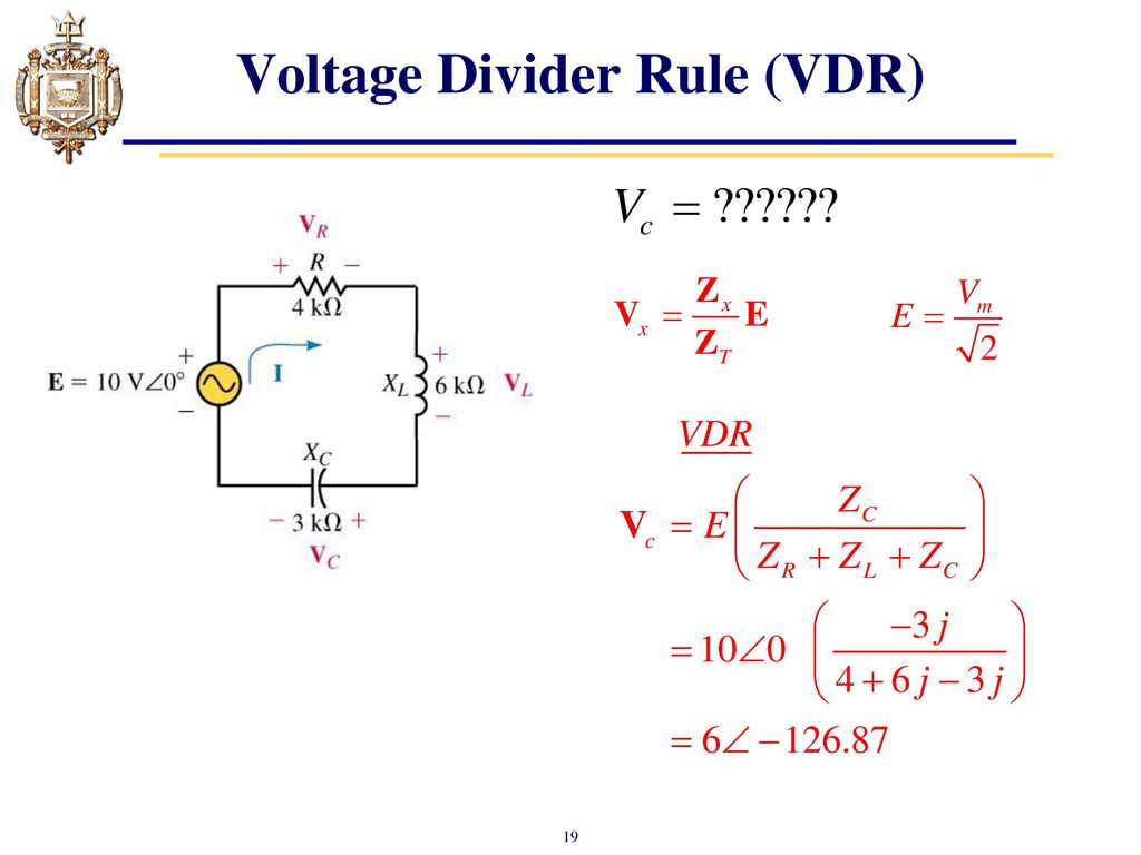 Lesson 16 Series Ac Circuits Ppt Download Voltage Divider Rule Build Circuit 19 Vdr