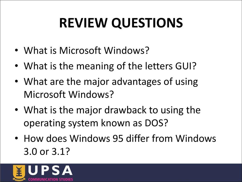 advantages of windows 95