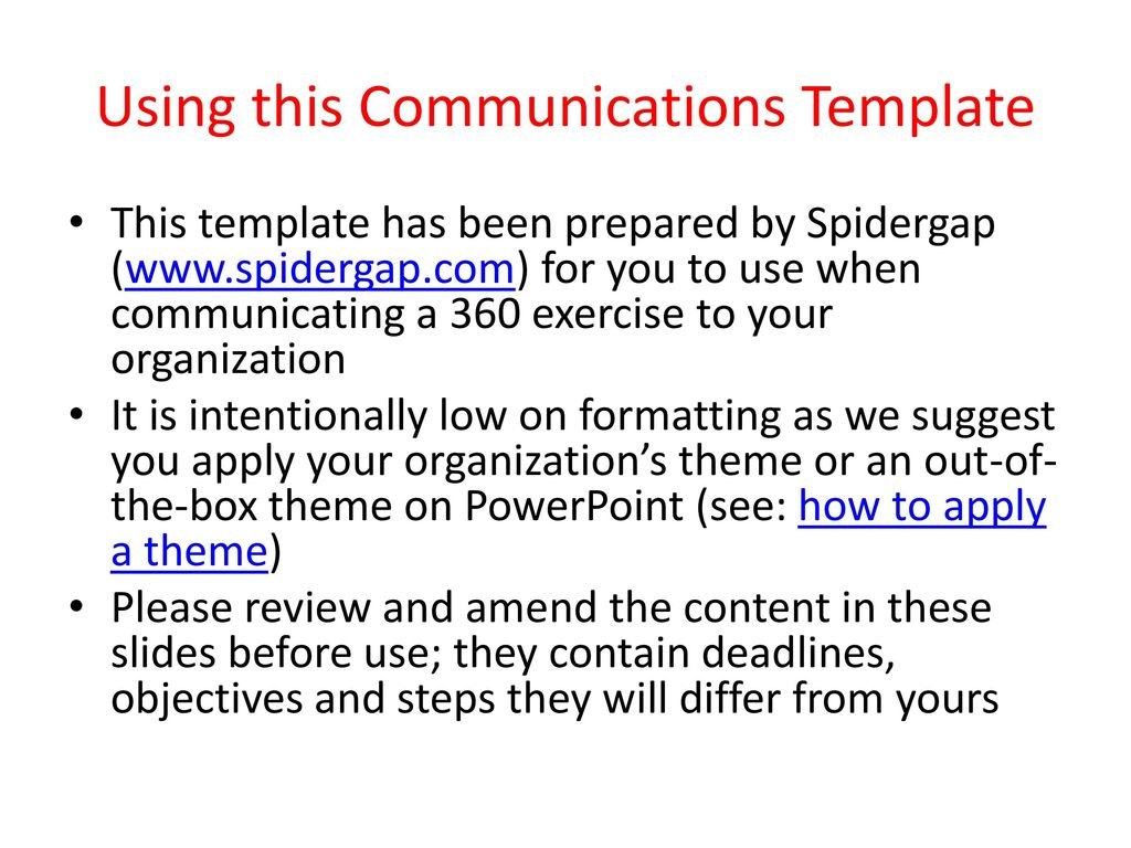 Using This Communications Template Ppt Download