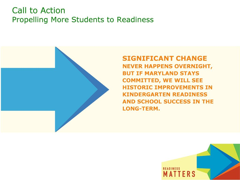 Call to Action Propelling More Students to Readiness