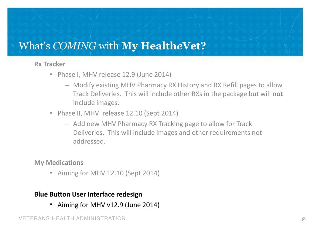 my healthevet history