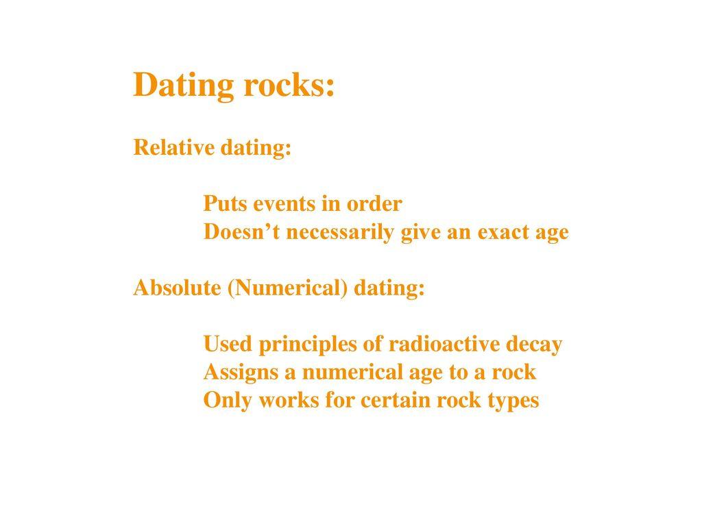 Principles of radioactive dating