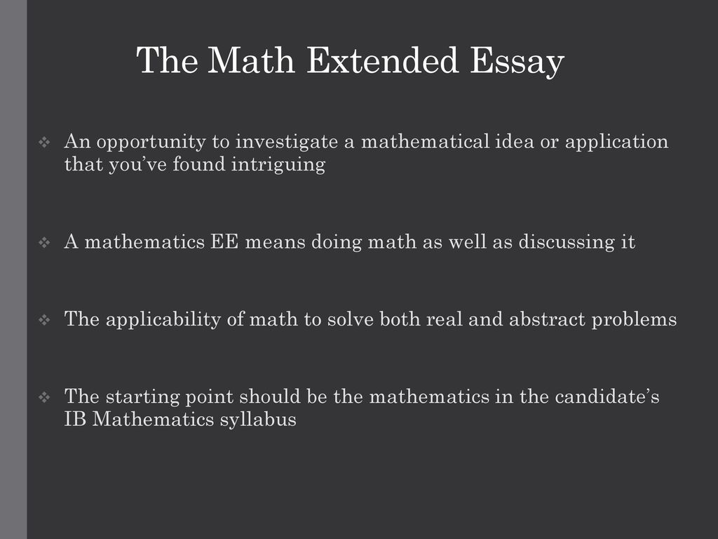 ib maths extended essay