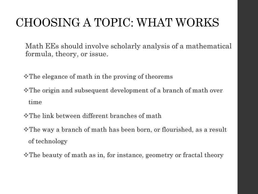 geometry essay topics