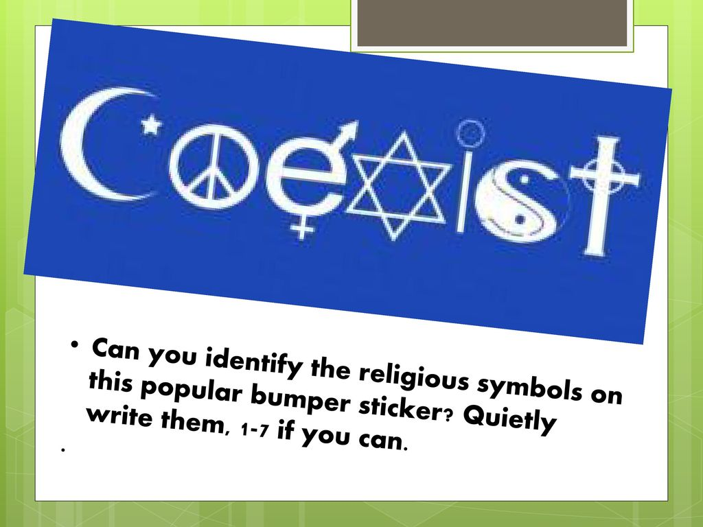 Can You Identify The Religious Symbols On This Popular Bumper
