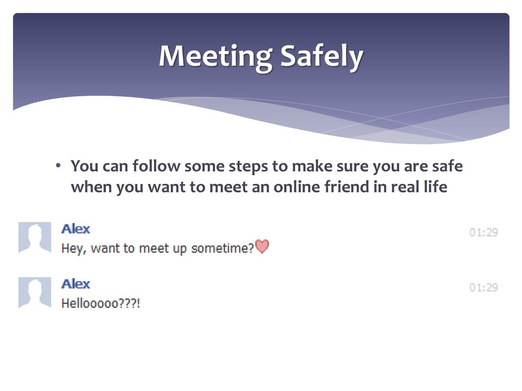 How to meet someone online safely