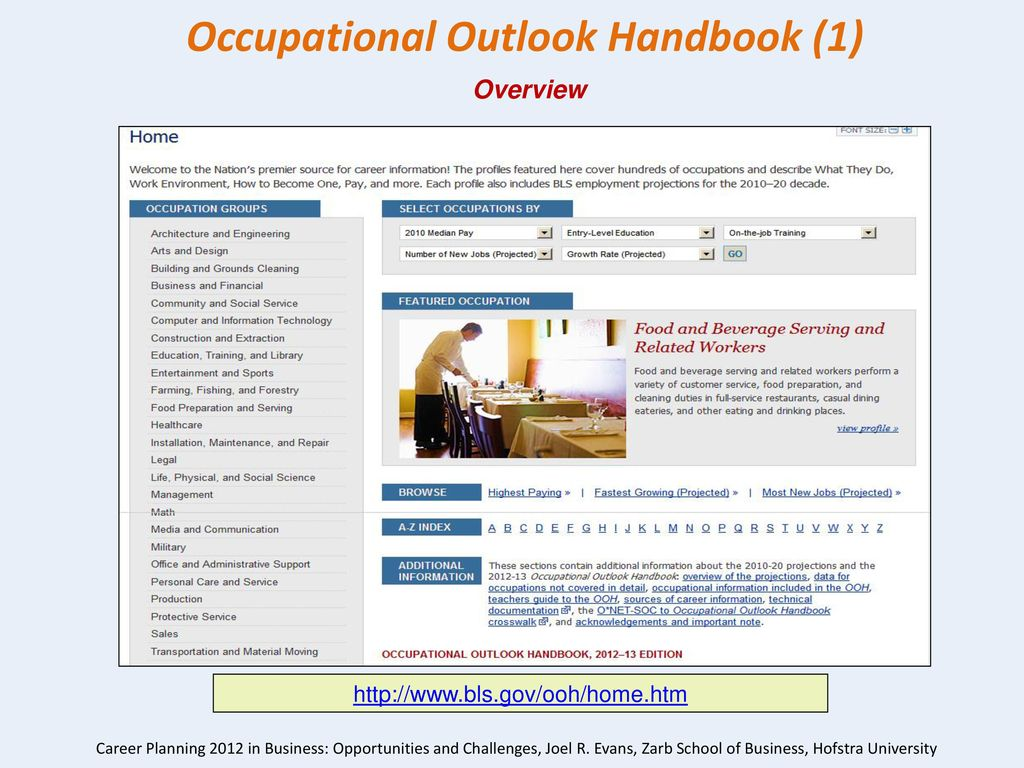 11 Occupational Outlook Handbook ...