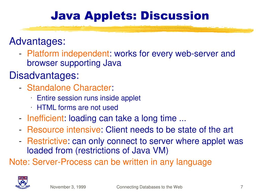 Connecting Databases To The Web Ppt Download Intranet Diagram Apache Iis And Pws 7 Java Applets Discussion