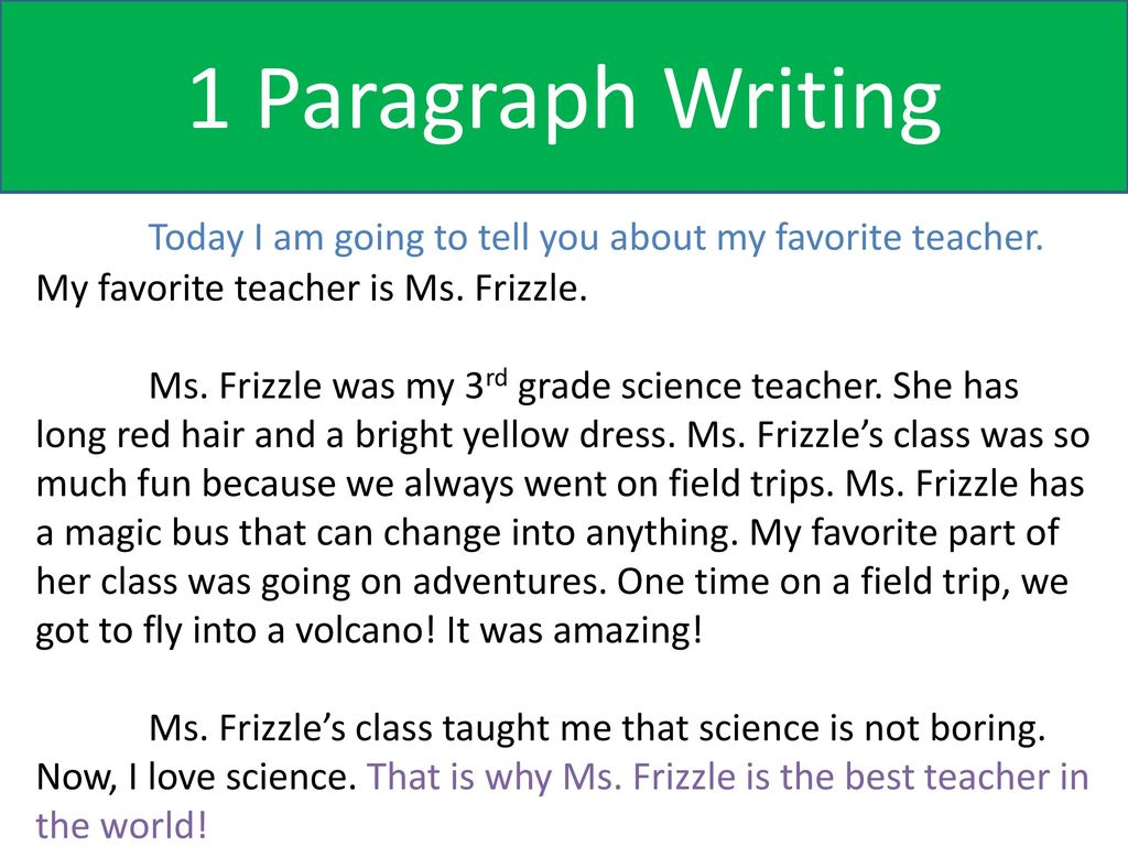 about my favourite teacher