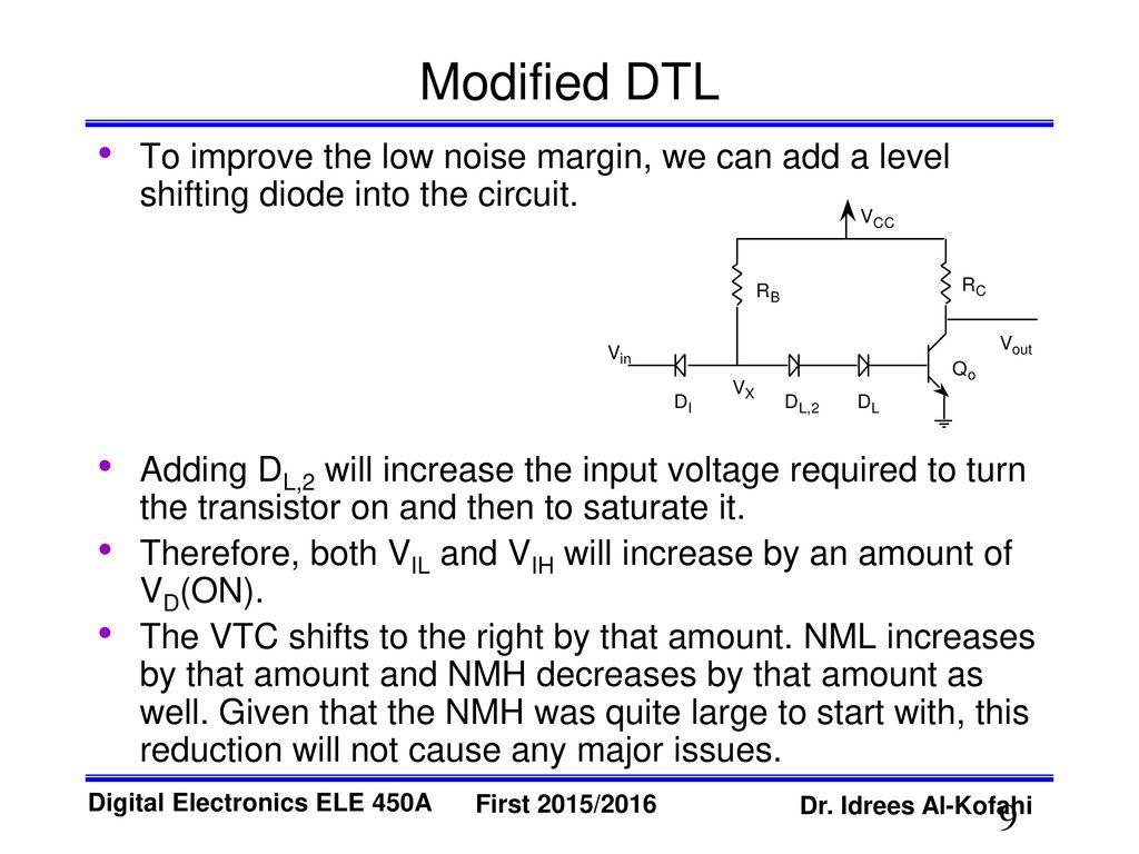 Diode Transistor Logic Dtl Ppt Download Transistors Zero Or Lowcurrent Voltage Divider For Switch 9 Modified