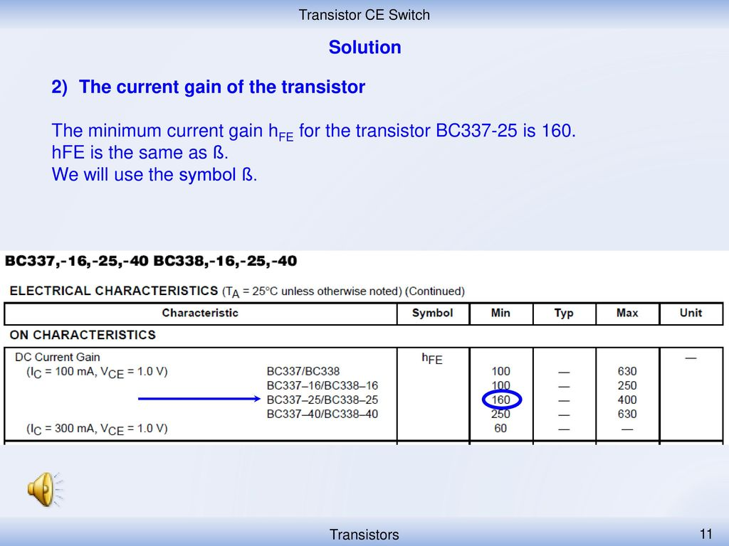 Projekt Anglicky V Odbornch Pedmtech Cz107 1309 Ppt Download Transistors Dc Voltage Grounded With Ac Input Electrical The Current Gain Of Transistor