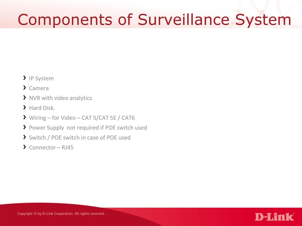Ip Surveillance Solutions Ppt Download Cat 5 Wiring Diagram For Poe Camera 8 Components Of System