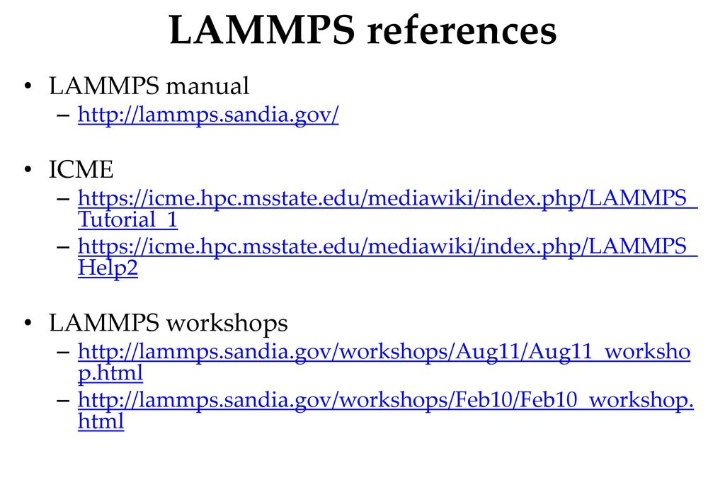 Introduction to LAMMPS - ppt download