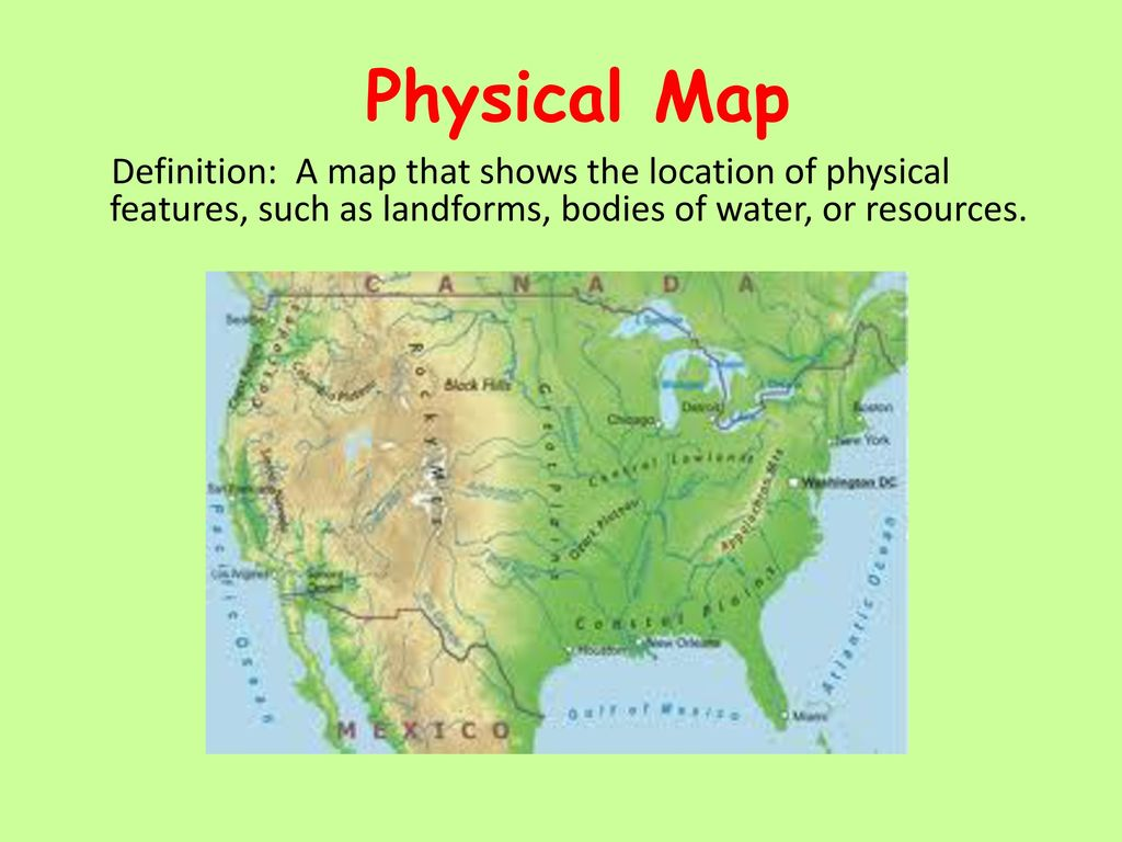 Physical Maps Definition Maps and Globes Quiz.   ppt download Physical Maps Definition