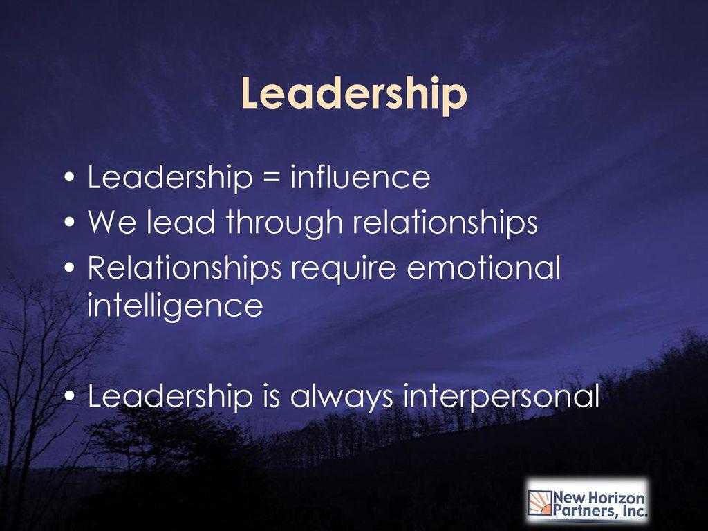 leadership through relationships