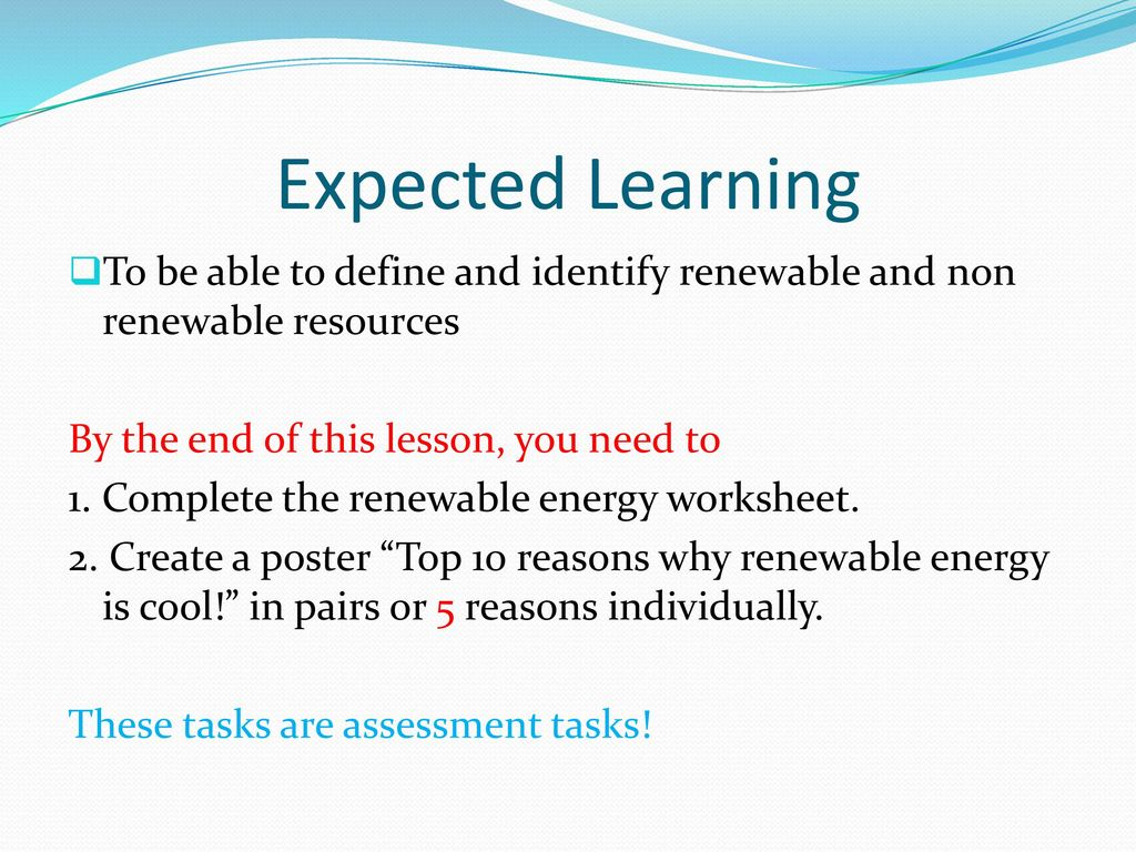 Worksheets Renewable And Nonrenewable Resources Worksheets expected learning to be able define and identify renewable non resources by