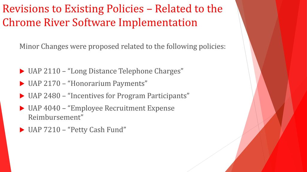 Proposed Policy Updates - ppt download