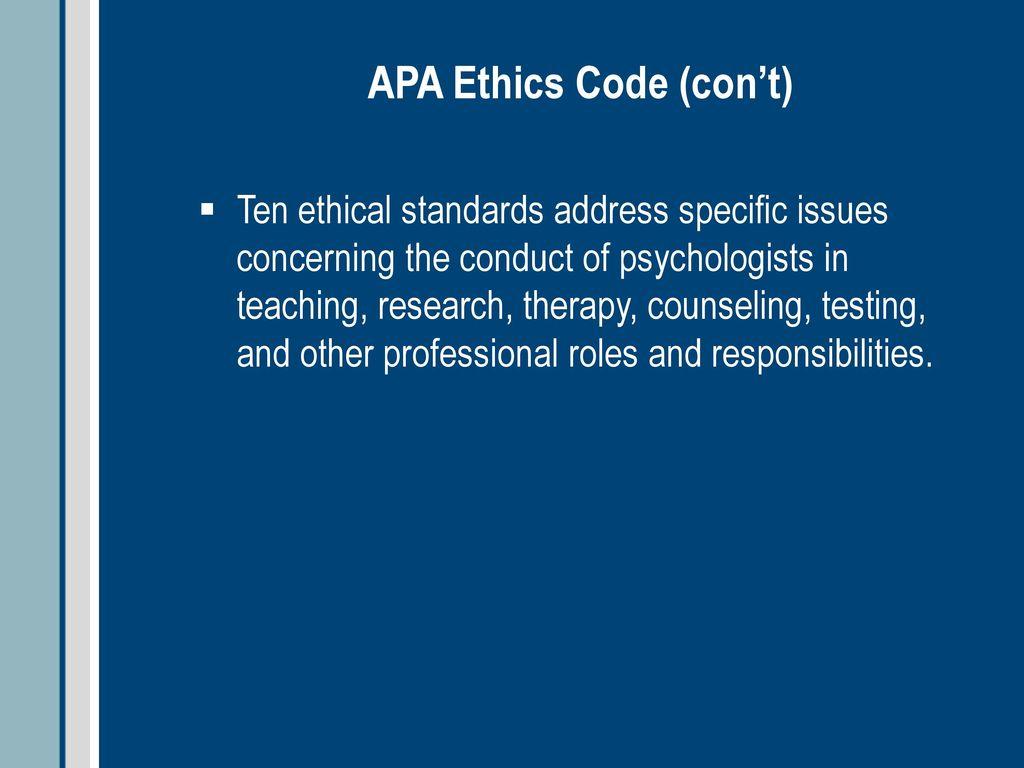 apa ethical standard 8.11