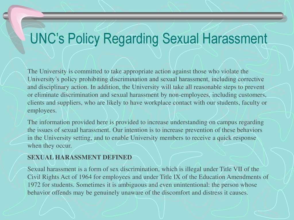 Take the appropriate action for sexual harassment