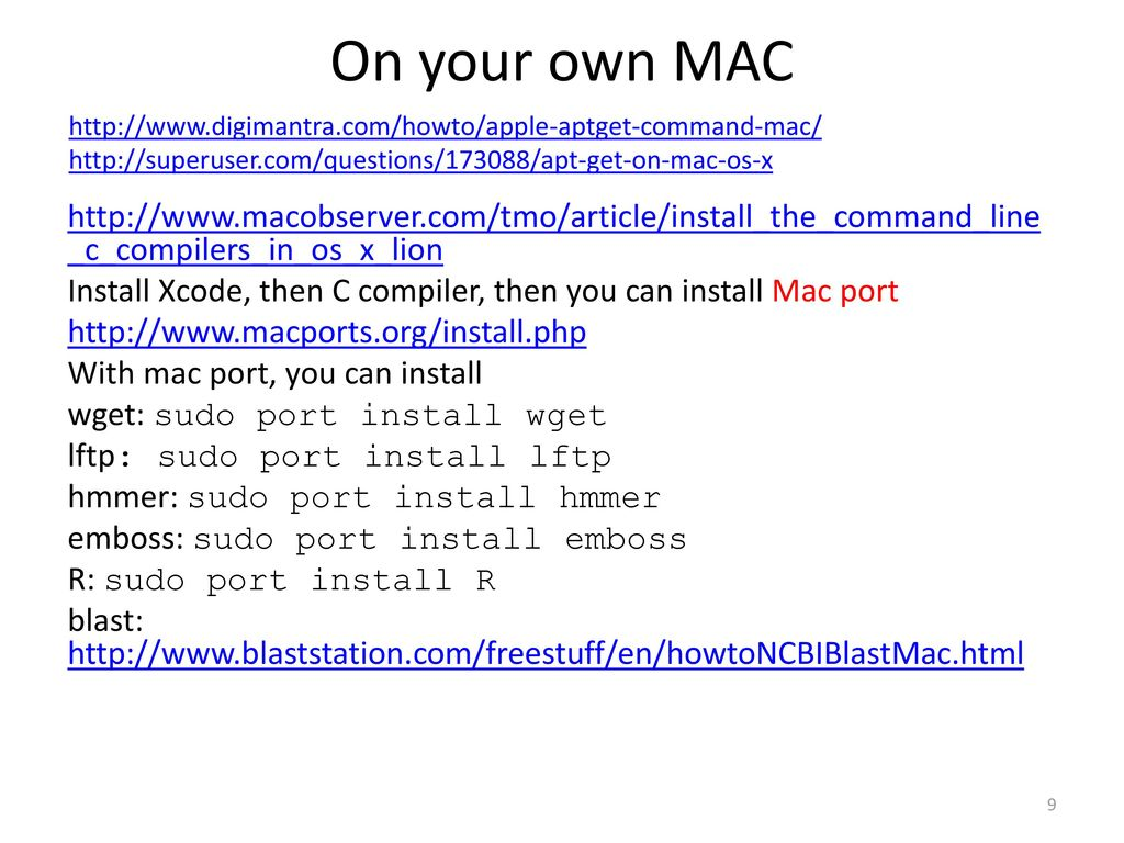 Install external command line softwares - ppt download