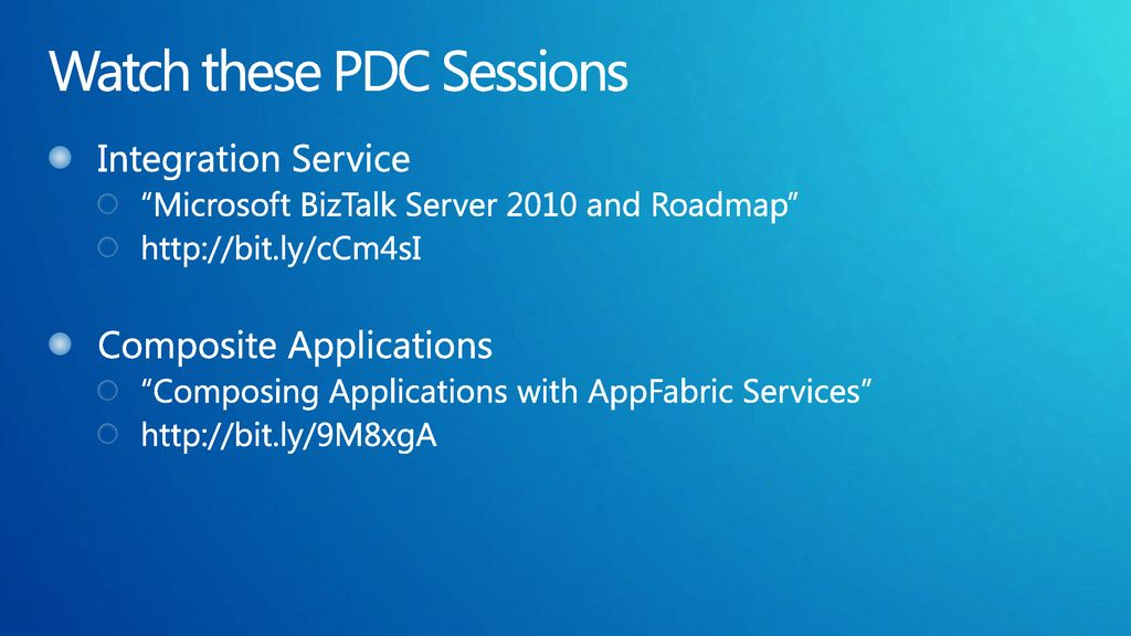 Watch these PDC Sessions