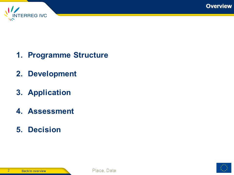 Programme Structure Development Application Assessment Decision