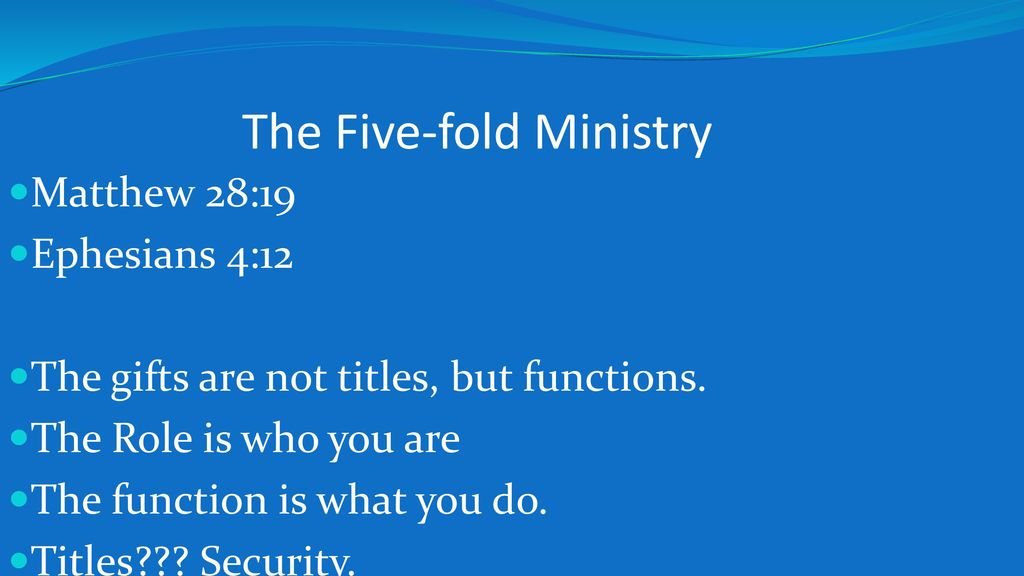 Which Of The Five Fold Ministry Gifts Best Describes You
