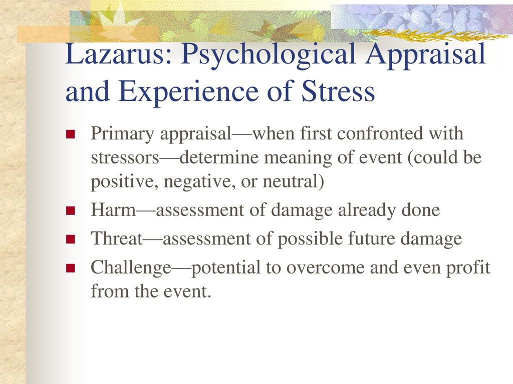 Stressors Stressful events - ppt download