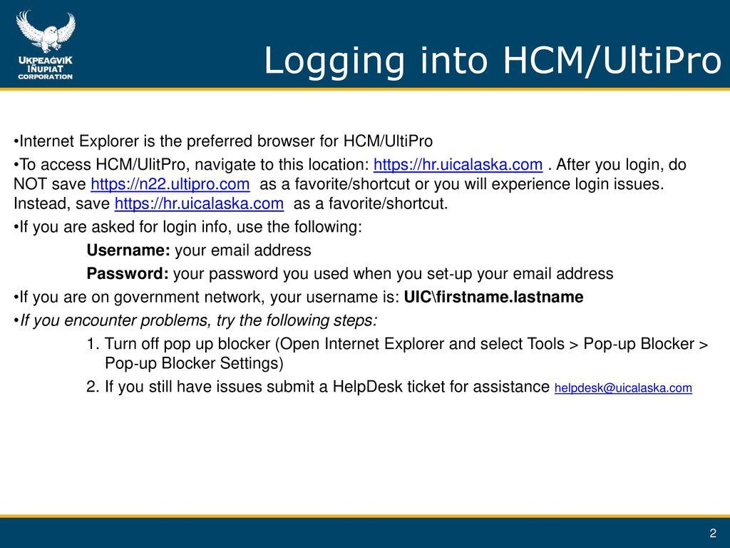 Using HCM/UltiPro to Enroll Benefits - ppt download