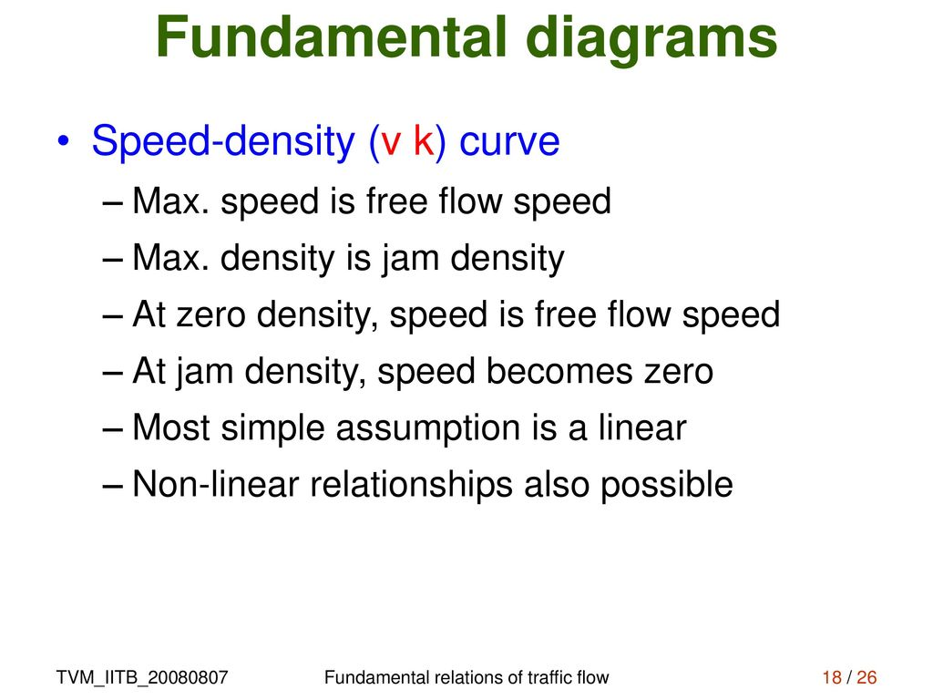 Fundamental Relations Of Traffic Flow Ppt Download Process Diagram For Jam