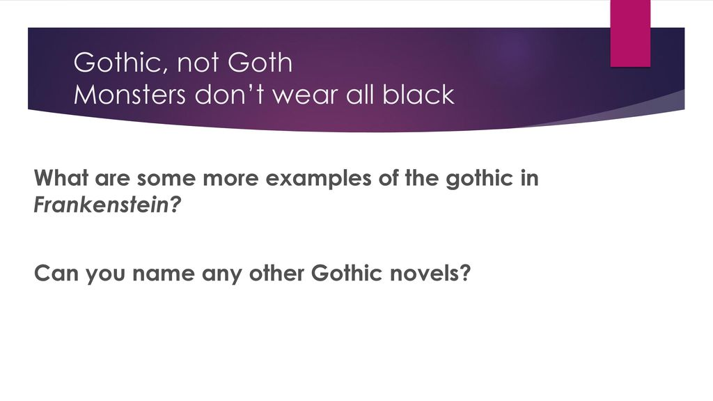 gothic story examples