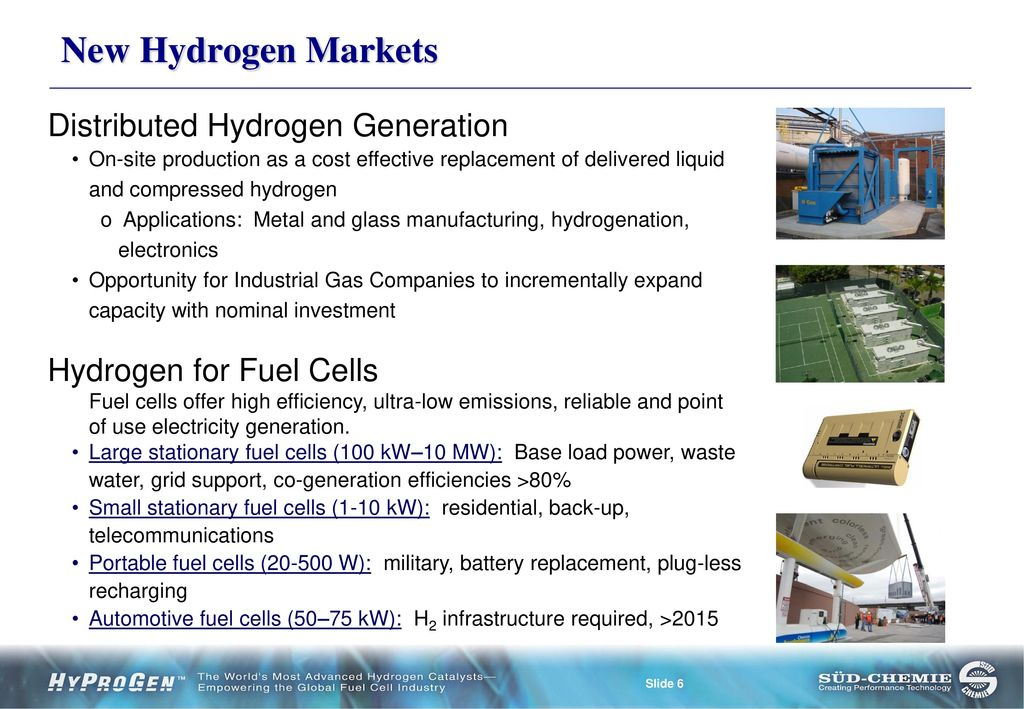 Fuel Cells Specialized Catalysts for Hydrogen Production for