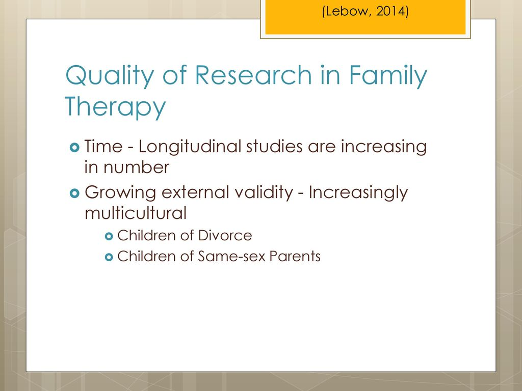 Quality of Research in Family Therapy
