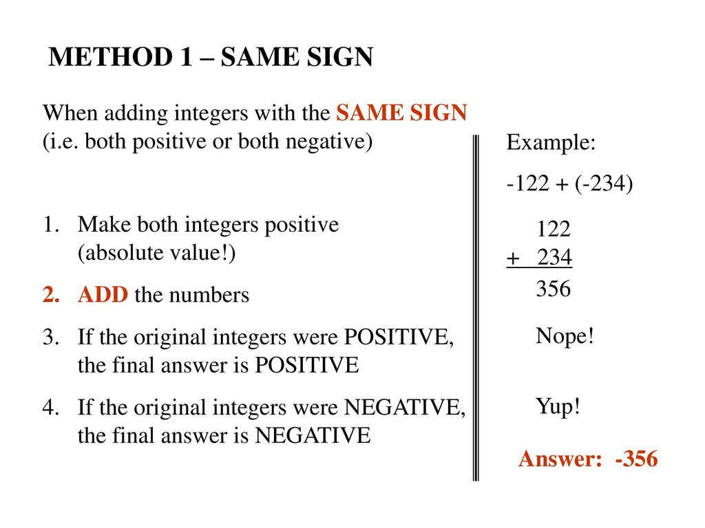 Rules For Adding Subtracting Integers Ppt Download