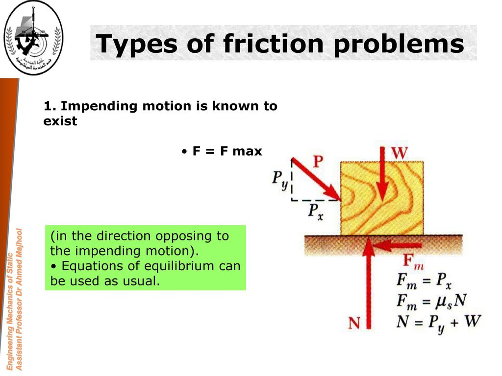 Chapter six: Friction Section A Frictional Phenomena ppt